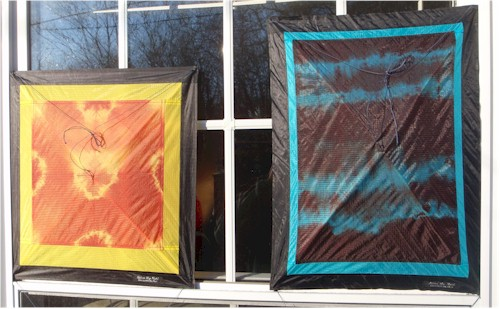 Dyed squares in the sun